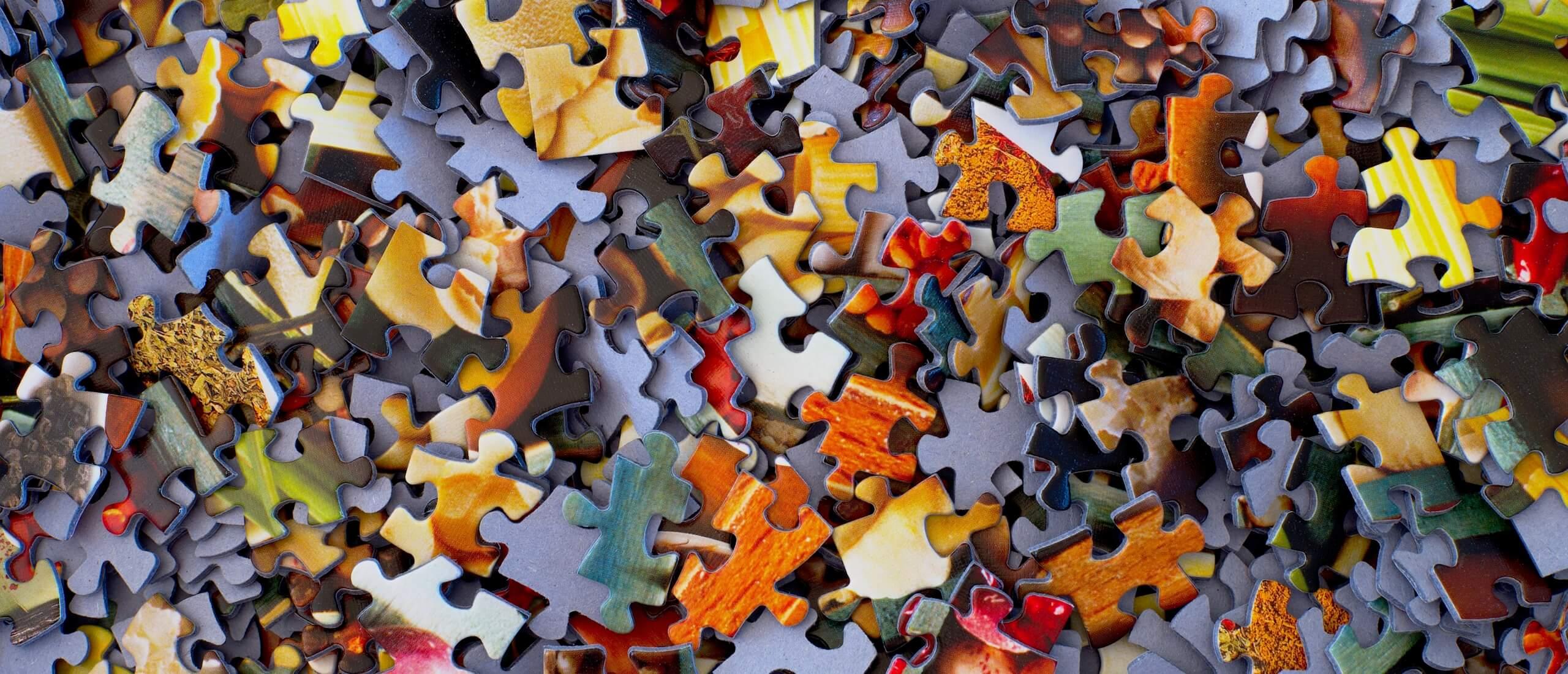 Die Puzzleteile stellen die Situation dar, wenn wir nicht mehr weiter wissen.